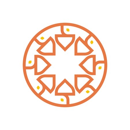 genesis: Logo symbol abstract orange circle perfect performance design