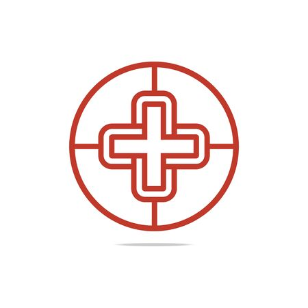 perfect: Logo symbol red medical  good perfect performance design icon