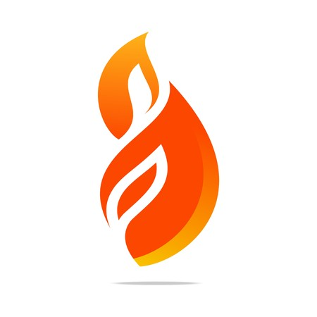 wildfire: fire, flame, hot, red, design, logo, icon, symbol, shapes, wildfire, bonfire, burn, torch Illustration