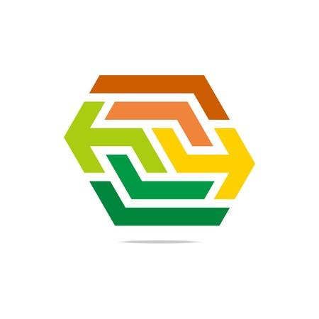 perfect: Logo design hexagon perfect icon vector