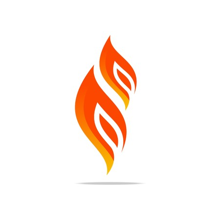 fire, flame, hot, red, design, logo, icon, symbol, shapes, wildfire, bonfire, burn, torch Illustration