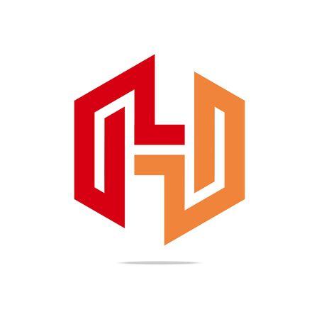 hexa: Logo symbols hexa perfect colour design icon vector Illustration