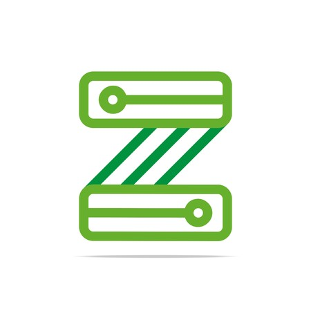 turbulence: Logo Design letter Z Connecting Element Graphic Icon Symbol Vector Illustration