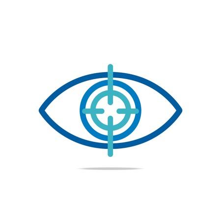 viewpoint: Abstract Logo Eye Circle Eyeball Symbol Vector