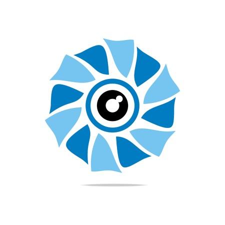 Abstract Logo Eye Circle Eyeball Symbol Vector