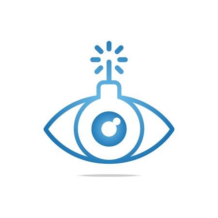 glimpse: Abstract Logo Eye Circle Eyeball Symbol Vector