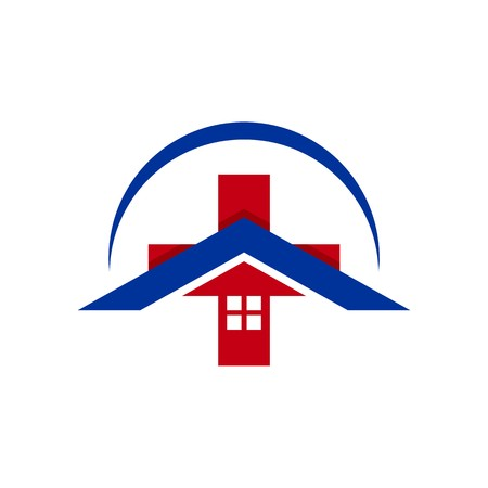 hospital patient: Logo design medical hospital healthy care patient check up