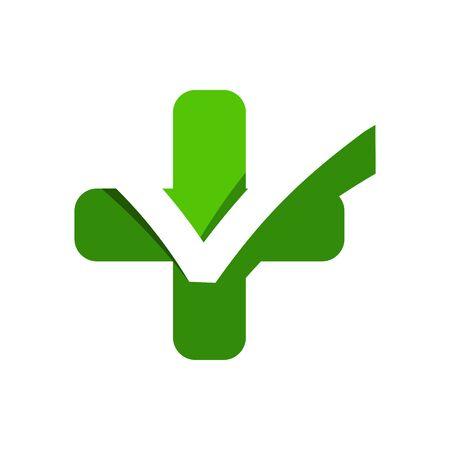 medics: Logo design medical healthy care patient check up