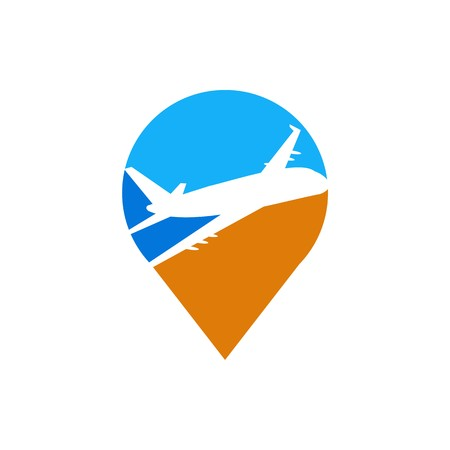 wandering: Holiday Plane Logo flying aviation trip vocation route expedition traveling