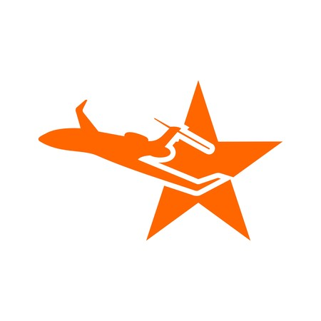 flit: Holiday Plane Logo flying aviation trip vocation route expedition traveling
