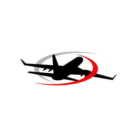expedition: Holiday Plane Logo flying aviation trip vocation route expedition traveling