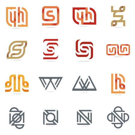 Logo design elements, symbole and vector suitable for several projects business full editable