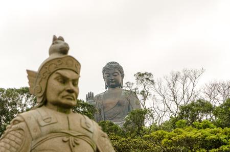 lantau: Lantau Island Big Buddha Stock Photo