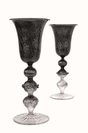 glasses in Murano glass - Venice Stock Photo - 12912913