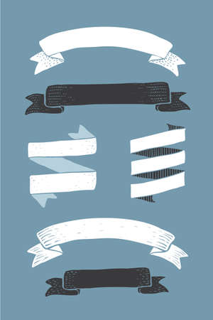 ribbon vector set: ribbon vector set