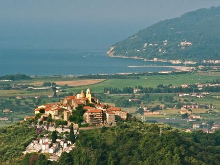 View of San Nicola village on the mountain