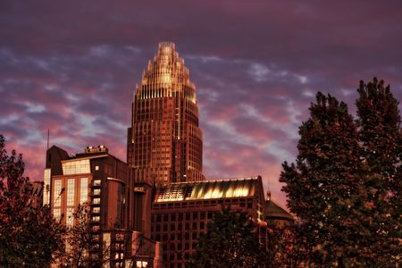 carolina: Charlotte is the largest city in the state of North Carolina and the seat of Mecklenburg County. Charlottes population was estimated to be 687,456 in 2008, making it the 18th largest city in the United States. Residents of Charlotte are referred to as  Stock Photo