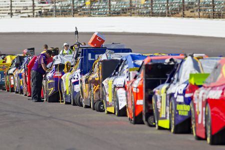 INDIANAPOLIS, IN - JULY 24, 2010:  The NASCAR Sprint Cup teams qualify for the Brickyard 400 race at the Indianapolis Motor Speedway in Indianapolis, IN. Stock Photo - 7438693