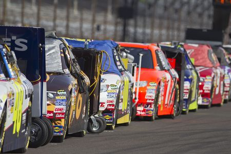 INDIANAPOLIS, IN - JULY 24, 2010:  The NASCAR Sprint Cup teams qualify for the Brickyard 400 race at the Indianapolis Motor Speedway in Indianapolis, IN. Editorial
