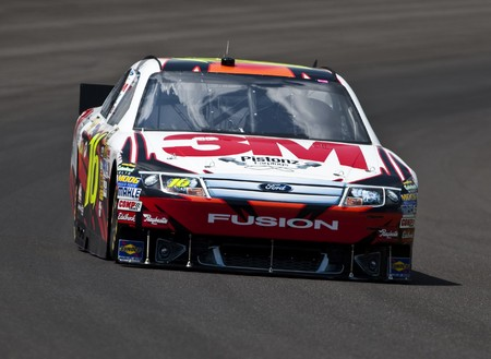 INDIANAPOLIS, IN - JULY 23, 2010: Greg Biffle practices for the Brickyard 400 race at the Indianapolis Motor Speedway in Indianapolis, IN. Editorial