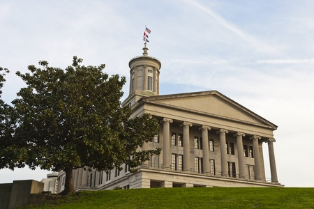 Tennessee State Capital building located in Nashville, Tennessee