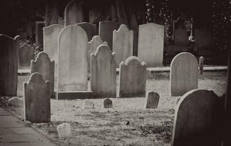 Old vintage gravestones
