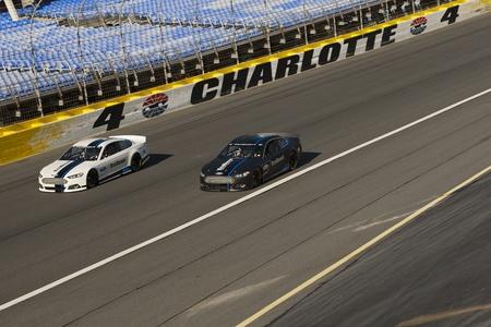 샬롯, 노스 캐롤라이나 - 2012년 1월 24일 : NASCAR 미디어 투어하게 그