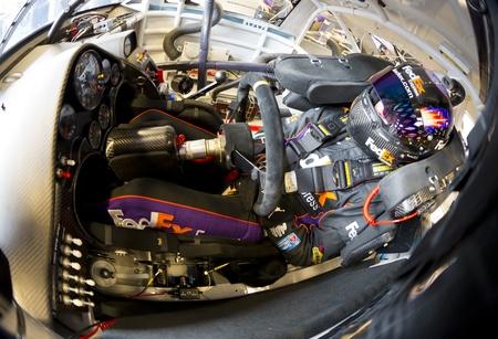 Indianpolis, IN - 28 de julio 2012: La Copa Sprint de NASCAR a la pista para una sesión de práctica para la máquina de afeitar Curtiss 400 presentada por Crown Royal en el Indianapolis Motor Speedway en Indianápolis, IN. Foto de archivo - 14667883