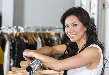 A female consumer shopping in an indoor store Stock Photo - 17785036