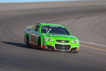 raceway: AVONDALE, AZ - MAR 01, 2013   Danica Patrick  10  takes her car on the track and qualifies 40th for the Subway Fresh Fit 500 race at the Phoenix International Raceway in AVONDALE, AZ