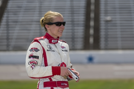 mann: Fort Worth, TX - Jun 07, 2013   Pippa Mann  18  takes to the track for a practice session for the Firestone 550 race at the Texas Motor Speedway in Fort Worth, TX  Editorial