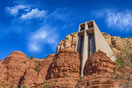 cath�drale: Eglise � Cathedral Rock Banque d'images