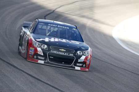 Fort Worth, TX - Apr 04, 2014:  Kurt Busch (41) brings his race car through the turns during a practice session for the Duck Commander 500 at Texas Motor Speedway in Fort Worth, TX. Redakční