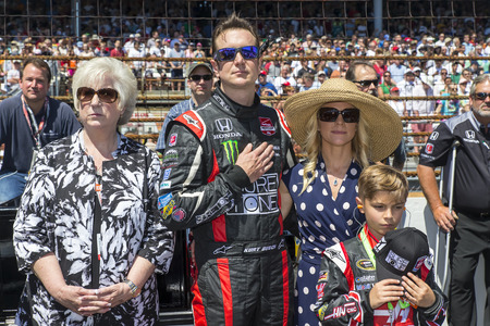 hass: Indianapolis, IN - May 25, 2014:  NASCAR driver, Kurt Busch (26), runs the 98th annual Indianapolis 500 at the Indianapolis Motor Speedway in Indianapolis, IN.