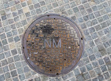 niagara falls city: Manhole cover in Niagara Falls, NY