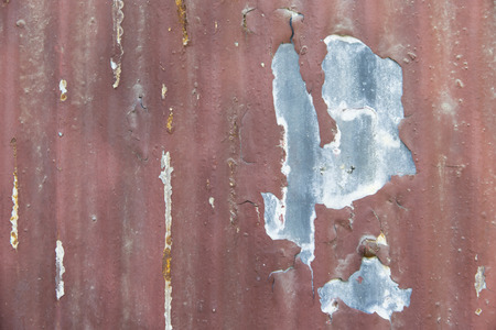 Rust on an abandoned building in a city environment photo