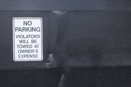 No parking sign in a city environment photo