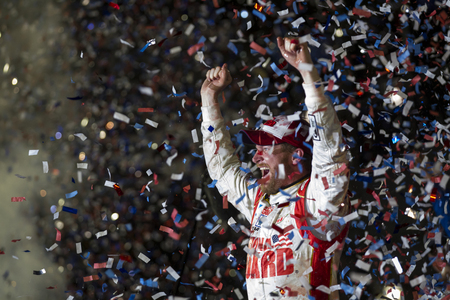 nscs: Daytona Beach, FL - Feb 23, 2014:  Dale Earnhardt Jr. (88) wins the Daytona 500 at Daytona International Speedway in Daytona Beach, FL.