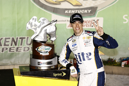 quaker: Sparta, KY - Jun 29, 2014:  Brad Keselowski (2) wins the Quaker State 400 at Kentucky Speedway in Sparta, KY.