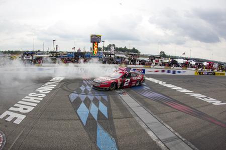 Loudon, NH - Jul 13, 2014:  Brad Keselowski (2) wins the
