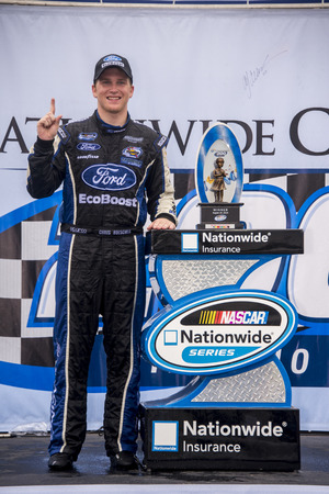roush: Lexington, OH - Aug 16, 2014:  Chris Buescher (60) wins the Nationwide Childrens Hospital 200 at Mid-Ohio Sports Car Course in Lexington, OH. Editorial