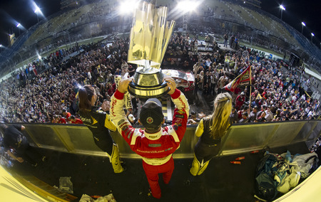 homestead: Homestead, FL - Nov 16, 2014:  Kevin Harvick (4) wins the NASCAR Sprint Cup Series Championship at Homestead-Miami Speedway in Homestead, FL.