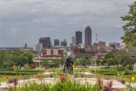 デモインは、資本と米国アイオワ州の最も人口の多い都市です。 写真素材