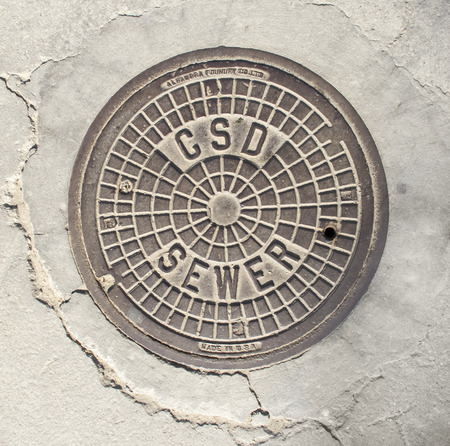 Manhole cover in Beverly Hills, CA. photo