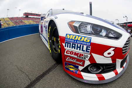 nscs: Fontana, CA - Mar 22, 2015:  The Advocare Ford Fusion sits on pit road before the start of the Auto Club 400 at Auto Club Speedway in Fontana, CA.