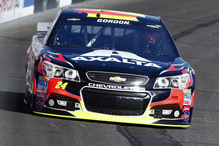 fontana: Fontana, CA - Mar 20, 2015:  Jeff Gordon (24) takes to the track to practice for the Auto Club 400 at Auto Club Speedway in Fontana, CA.