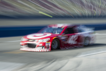 kyle: Fontana, CA - Mar 21, 2015:  Kyle Larson (42) takes to the track to practice for the Auto Club 400 at Auto Club Speedway in Fontana, CA.