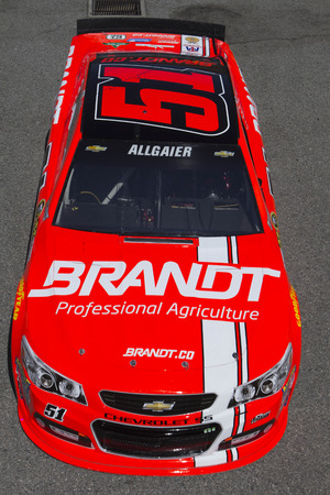 brandt: Fontana, CA - Mar 20, 2015:  Justin Allgaier (51) takes to the track to practice for the Auto Club 400 at Auto Club Speedway in Fontana, CA.