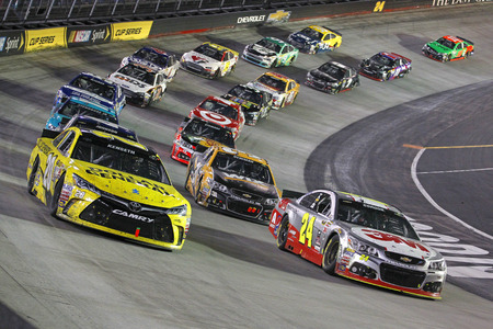 motor: Bristol, TN - Apr 19, 2015:  The NASCAR Sprint Cup Series teams take to the track for the Food City 500 at Bristol Motor Speedway in Bristol, TN.
