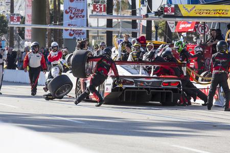 pits: Long Beach, CA - Apr 18, 2015:  The Wheelen Chevrolet pits during the Tequila Patron Sports Car Racing Showcase at Long Beach Grand Prix in Long Beach, CA.